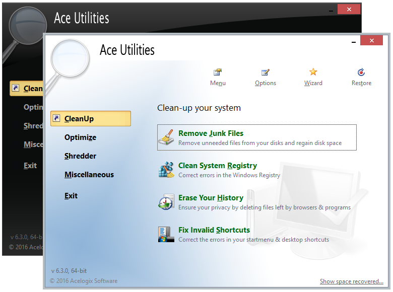 Ace Utilities screenshot